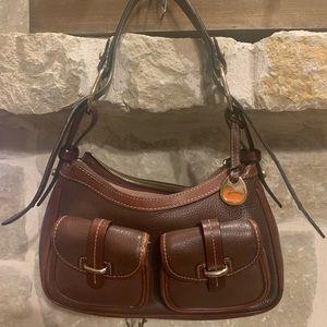 Dooney brown leather shoulder bag